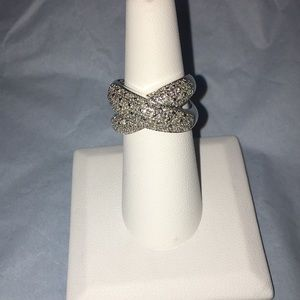 Jewelry - L&T Brand Sterling Silver and Diamond Cross Ring